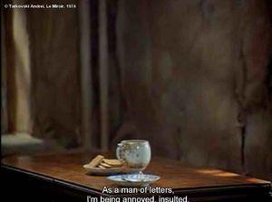 Insolite cin mancie for Le miroir tarkovski