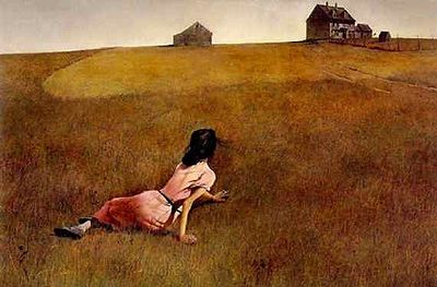 Image-Peinture, Andrew Wyeth (1917 - 2009), Christina's World, 1948.